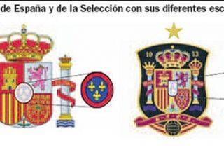 Error heráldico en el escudo que luce la selección española