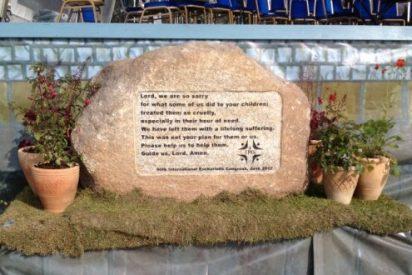 """La """"piedra de la sanación"""", en un antiguo santuario de San Patricio"""