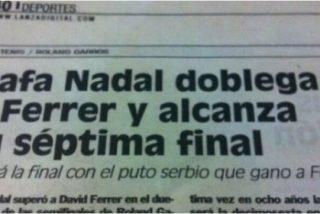 """El diario 'Lanza' de Ciudad Real llega a los quioscos llamando """"puto serbio"""" a Djokovic"""