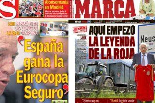 'Marca' le mete un gol a 'As' con los reportajes a Luis Aragonés antes de la Eurocopa