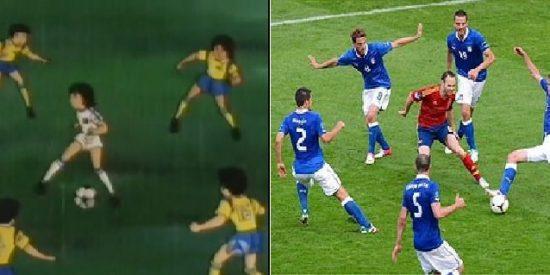 La red hace de Iniesta un jugador de dibujos animados tras su partidazo contra Italia