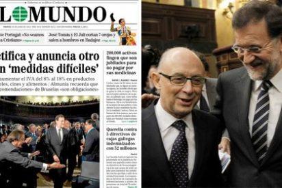 Público.es se pregunta si se atreverá Rajoy a subir el IVA de los pañales
