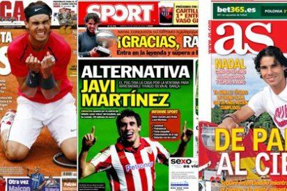 'Sport' se desmarca del resto de periódicos deportivos y 'pasa' de darle su portada a la victoria de Nadal