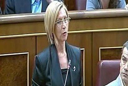 "Clase de lectura de Rosa Díez a Rajoy: ""Dígalo conmigo, res-ca-te"""