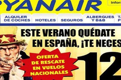 Ryanair se cachondea del rescate a España en su publicidad