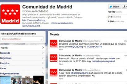 La Comunidad de Madrid, lider en la presencia institucional de las autonomías en redes sociales