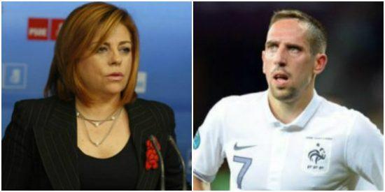 """Elena Valenciano llama """"feo"""" a Ribery en Twitter en el fragor del España-Francia y termina pidiendo disculpas"""