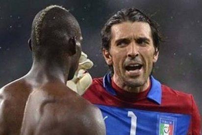 Buffon y Balotelli casi se pegan al acabar el partido contra España en la Eurocopa 2012