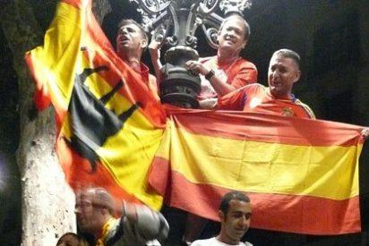 Barcelona celebra la Eurocopa sin pantalla gigante pero con fiesta