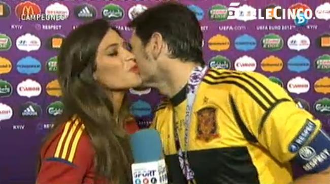 Iker Casillas y Sara Carbonero dejan 'sin beso' a los españoles