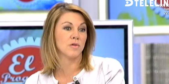 """María Dolores de Cospedal ve censurable el """"¡qué se jodan!"""" de Andrea Fabra"""