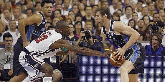 Los fenómenos de la NBA del equipo de EEUU derrotan a Argentina