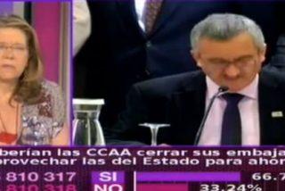 """Elvira Rodríguez desprecia a Ortega Lara por pedir un cambio en el modelo de Estado: """"¿A quién representa, por qué le damos cancha?"""""""