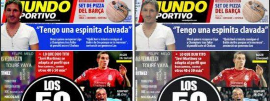 'Mundo Deportivo' la pifia con Agger y rectifica su primera portada