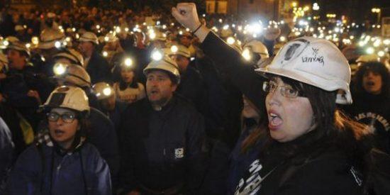 La izquierda mediática apoya la violencia de los mineros que quieren vender un carbón no rentable