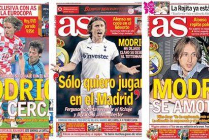 'As' se pone pesado con Modric: el diario de Prisa dedica hasta siete portadas en julio a su posible fichaje pero el croata parece alejarse del Madrid