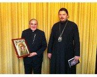 Sistach recibe al obispo ortodoxo Néstor