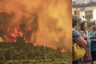 Osoro visita las localidades afectadas por el incendio de Cortes de Pallás