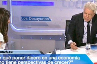"""González deja vendido a Zapatero: """"Merkel tiene razón al decir que España perdió competitividad"""""""
