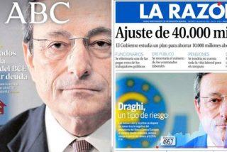 Mario Draghi, el nuevo villano para la prensa española