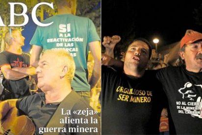 El millonario Víctor Manuel, con un casco en la cabeza, se abraza a los mineros