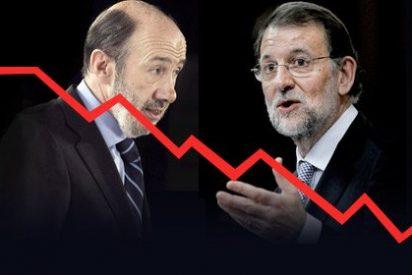 La casta política, abrasada por la crisis: el PP y el PSOE juntos apenas superan el 50% del voto
