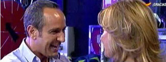 """Víctor Sandoval y Mila Ximénez, a punto de llegar a las manos en la sesión de insultos más tensa de 'Sálvame': """"¡Franquista! ¡perturbada!"""""""