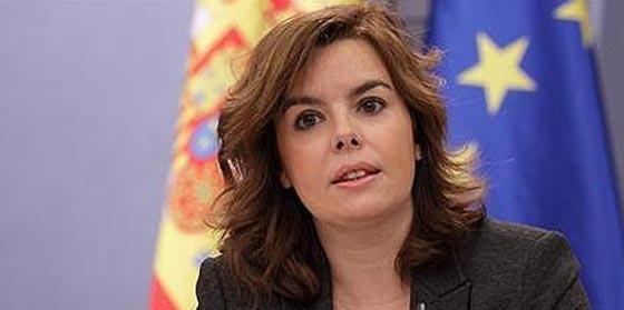 Soraya Sáenz de Santamaría desmiente el 'rescate a España' de la agencia Reuters