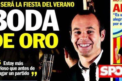 El verano hace estragos en las portadas de 'Sport': del hijo de Messi a la boda de Iniesta