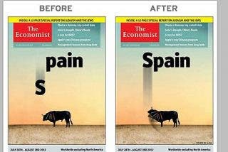 Respuesta en Twitter a la brutal portada de 'The Economist' sobre España