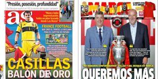 Angel María Villar visita la redacción de 'Marca' pero no la de 'AS'...¿en venganza por lo del 'villarato'?