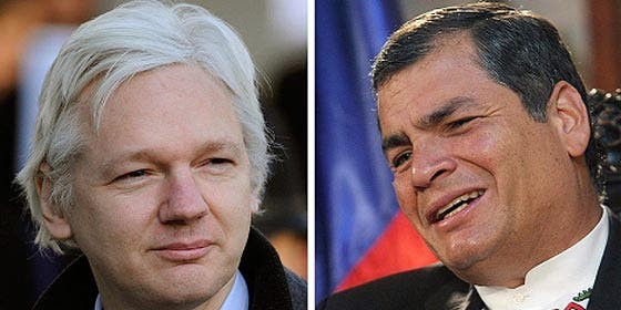 El presidente Correa desmiente que haya decidido conceder asilo político a Assange