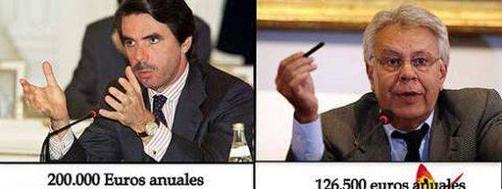 A pesar de la 'reforma Rajoy', los ex presidentes González y Aznar acumularán varios sueldos