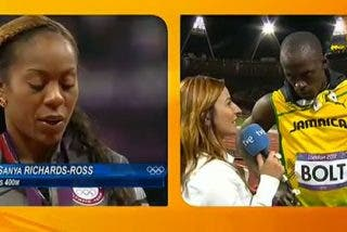 """""""Bolt interrumpe una entrevista de TVE para respetar el himno de los EEUU. ¡Qué crack!"""""""