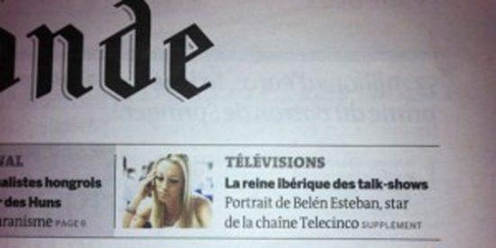 Belen Esteban, portada de 'Le Monde'