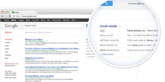 Google amplía los resultados del buscador a tus correos de Gmail