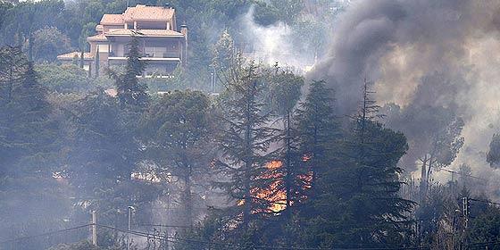 El Ayuntamiento de Valdemaqueda culpa del fuego a 'un malnacido'
