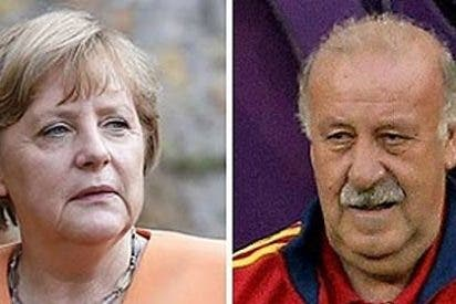"""Angela Merkel: """"Me gustaría invitar un día a cenar a Vicente del Bosque"""""""