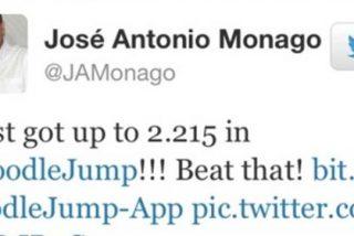 El presidente de la Junta de Extremadura, José Antonio Monago, se borra de Twitter tras postear que había batido su récord a los marcianitos