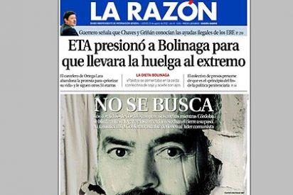 El diario 'La Razón' pide a la Junta de Andalucía que detenga a Sánchez Gordillo
