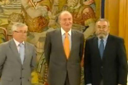 """Méndez y Toxo trasladan al Rey su """"enorme preocupación"""" por los recortes"""