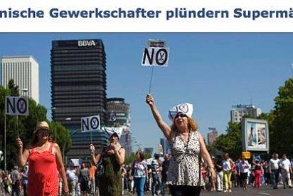 "Prensa alemana: ""Los sindicatos saquean supermercados en España"""