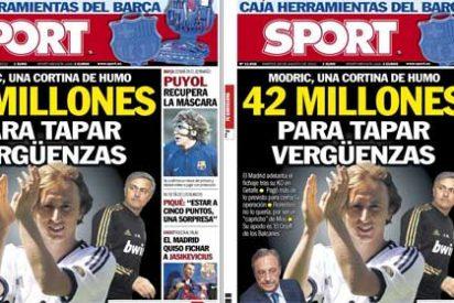 """'Sport' infla las cifras del fichaje de Modric en una portada muy polémica: """"42 millones para tapar vergüenzas"""""""