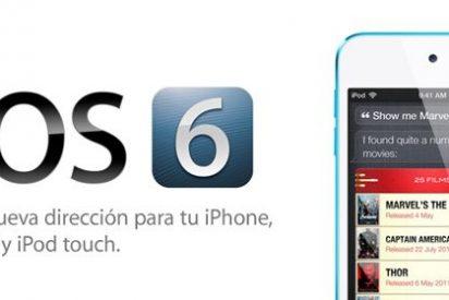 El nuevo sistema operativo de Apple, el iOS 6, ya está disponible
