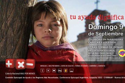 La Iglesia argentina lanza la 43 colecta nacional 'Más por menos'