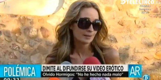 """Mientras que la concejal del vídeo porno es recibida con gritos de """"puta"""" y zorra"""" en el pleno, los famosos de la TV se desviven por defenderla"""