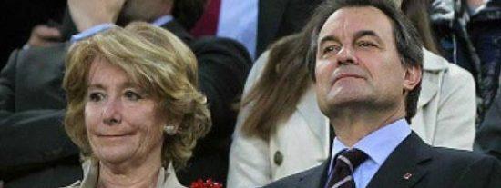 Aguirre y Mas: cara y cruz de una moneda que deja a Cataluña en muy mal lugar