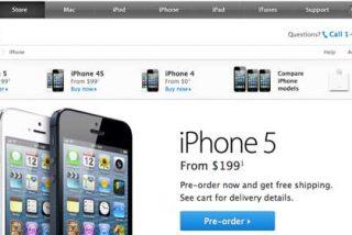 Las reservas online del iPhone 5 en EEUU se agotan en una hora