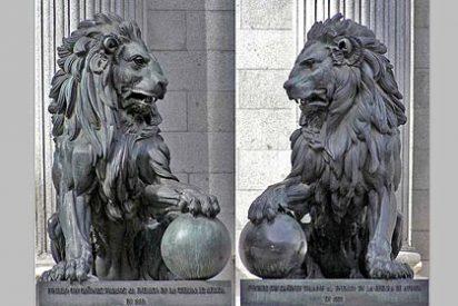 Uno de los leones del Congreso de los Diputados español carece de 'pelotas'