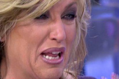 """Momento espeluznante en el que Lydia Lozano rompe a llorar aterrada al saber que un ex suyo quiere ir a 'Sálvame' : """"¡Me voy del programa, lo juro!"""""""